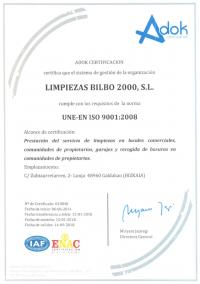 LIMPIEZAS BILBO 2000 OBTIENE LA ISO 9001
